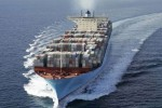 The building of first container ship of 18,000 TEUs just started